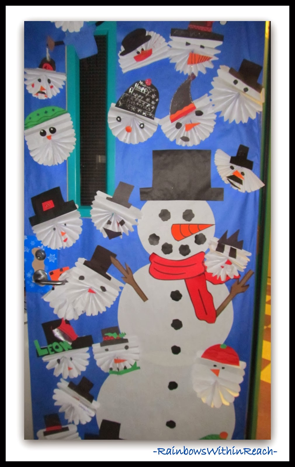 Winter Decorations For Preschool Classroom ~ Winter themed decorated door via rainbowswithinreach