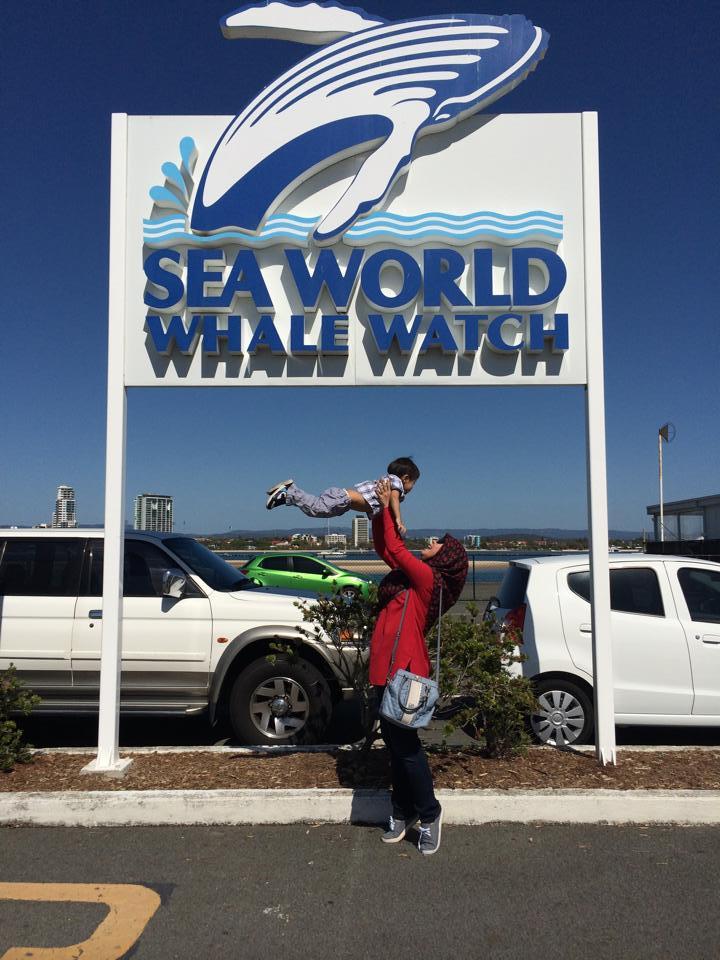 Kami di Seaworld, Australia