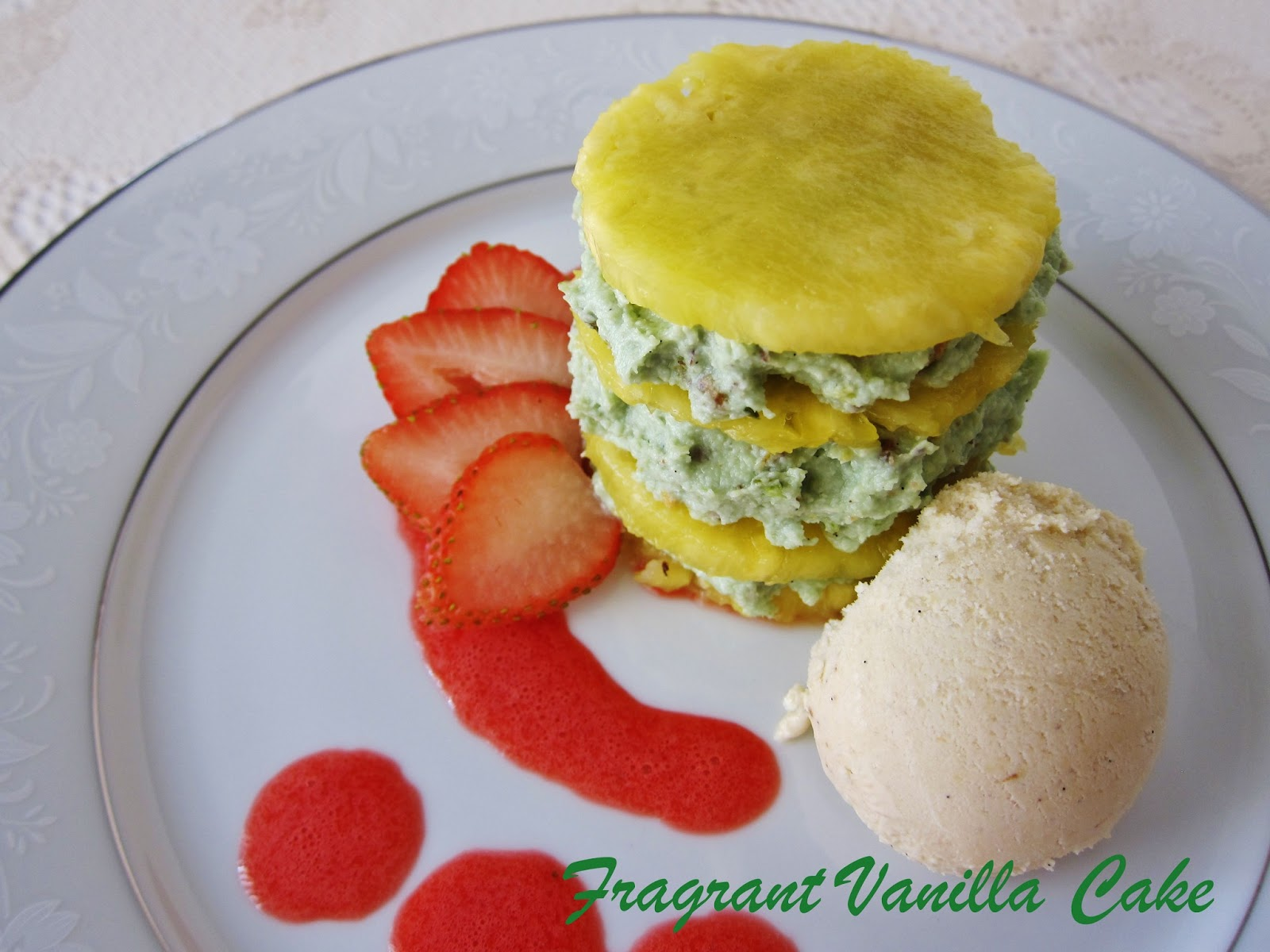 Pineapple Coconut Mousse With Pistachios Recipes — Dishmaps