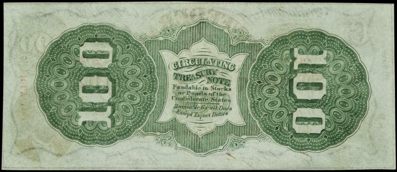 CSA 1863 100 Dollars