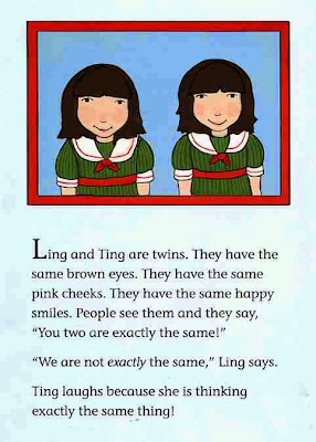 sample page #1 from bookcover of LING AND TING: NOT EXACTLY THE SAME  by Grace Lin