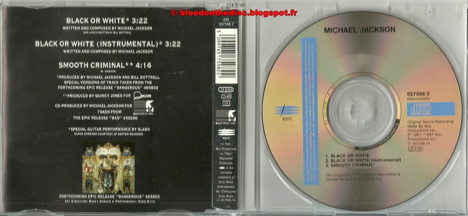 Black Or White Maxi CD