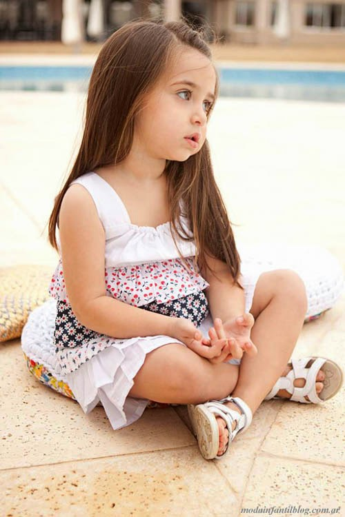 moda infantil 2014 plumitas