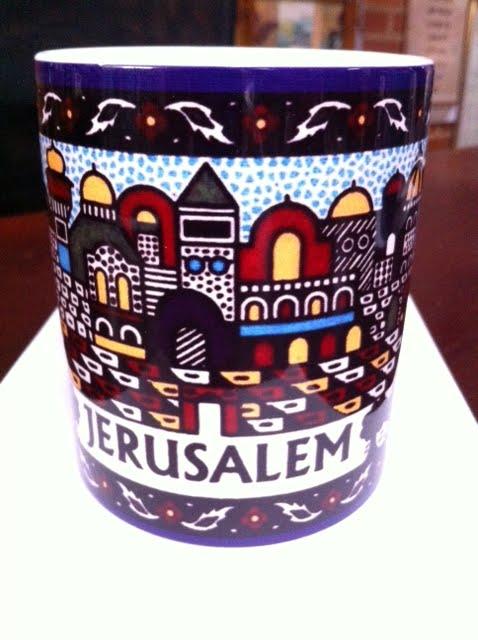 Mugs cerámica Jerusalém pintura 10 ctms.