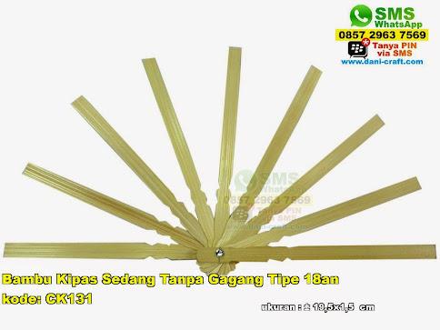 Bambu Kipas Sedang Tanpa Gagang Tipe 18an