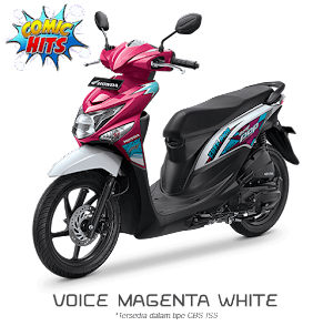 Warna Baru Beat POP ESP CBS ISS 2016 Voice Magenta White