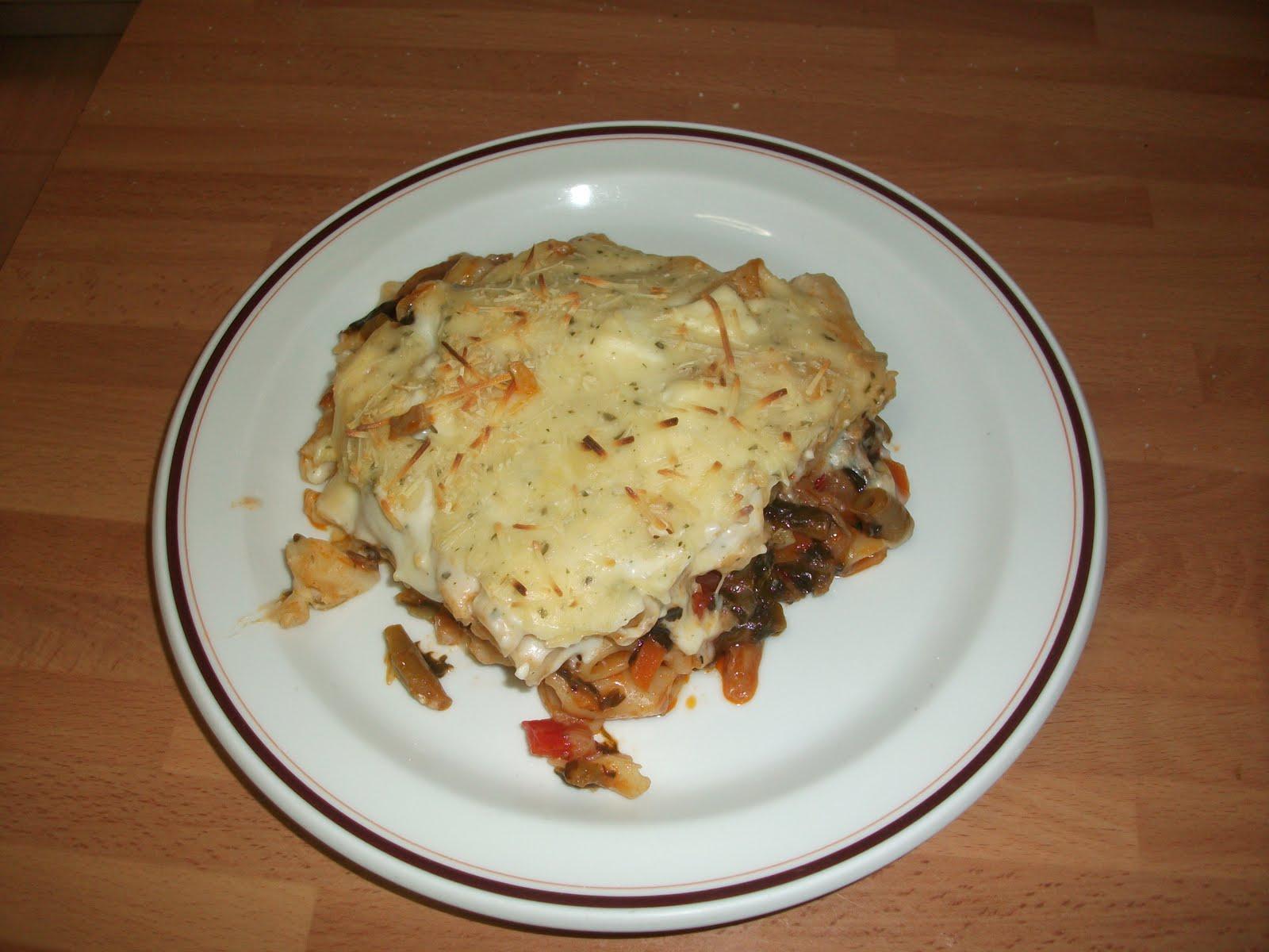 Entre fogones con la portuguesa macarrones con verduras y crema de queso al horno - Macarrones con verduras al horno ...