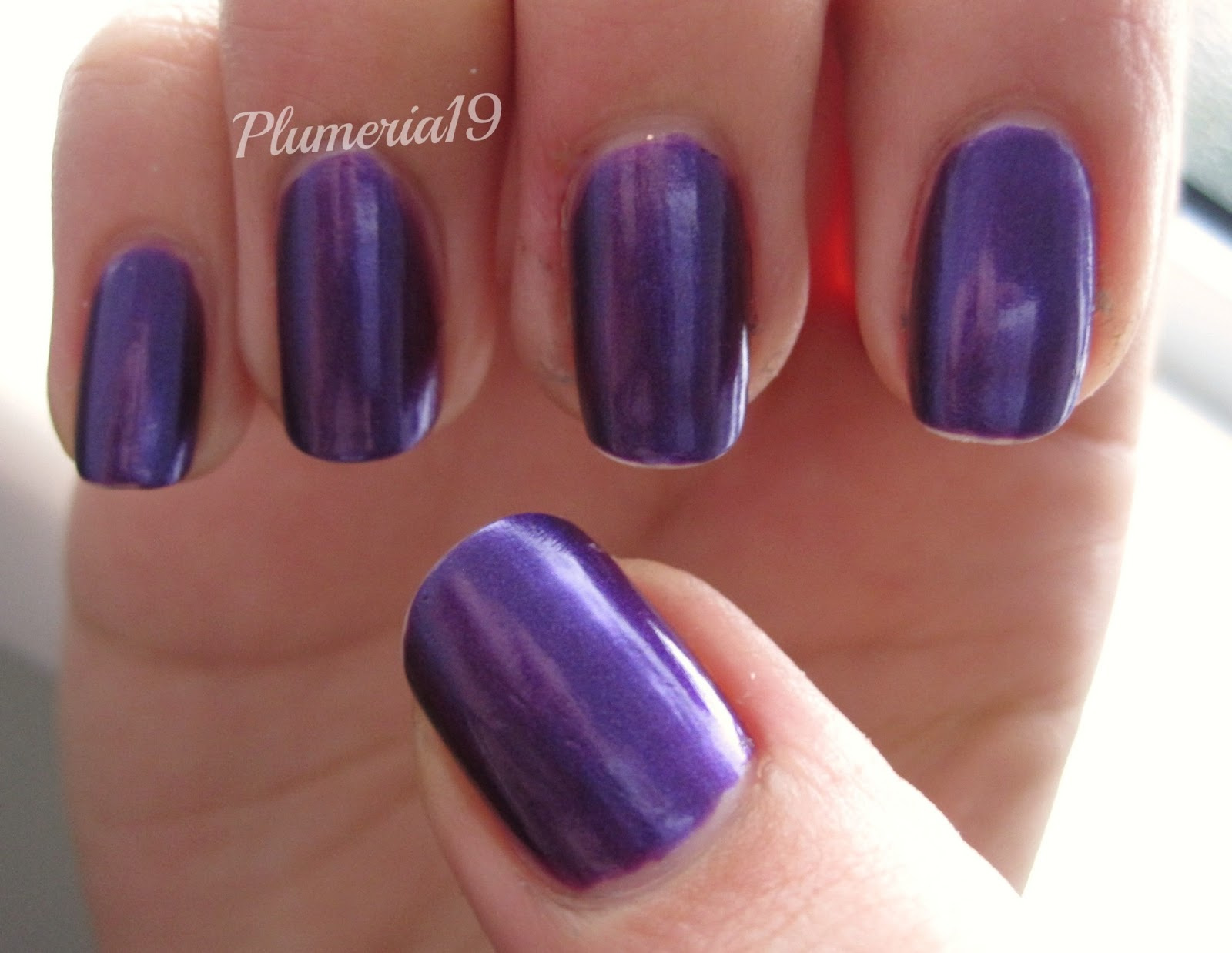 PlumeriaPainted: Purple Nails: OPI - Plum And Get It