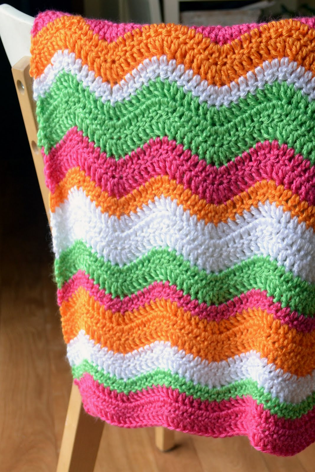 Free Crochet Baby Afghan Edging Patterns : Crochet in Color: Instructions for the Brite Baby Ripple