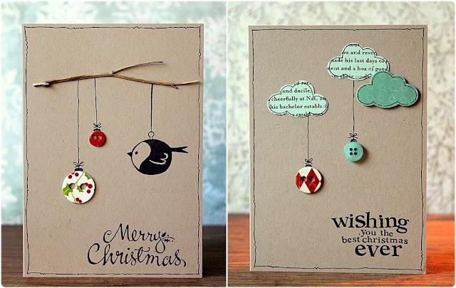 tarjetas Navidad botones