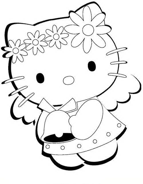 Hello kitty da colorare for Disegni da colorare hello kitty