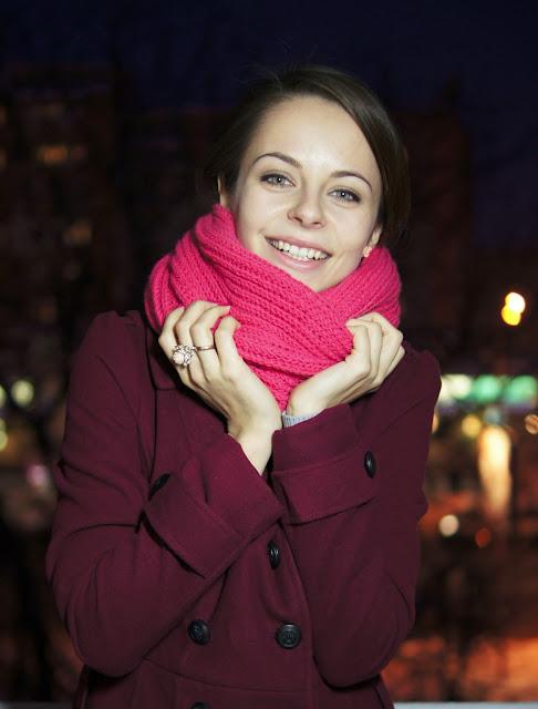 Вяжем шарф для девушки