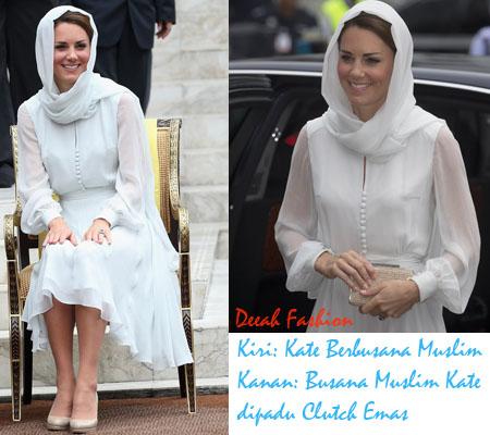 Kate Middleton Berbusana Muslim di Malaysia