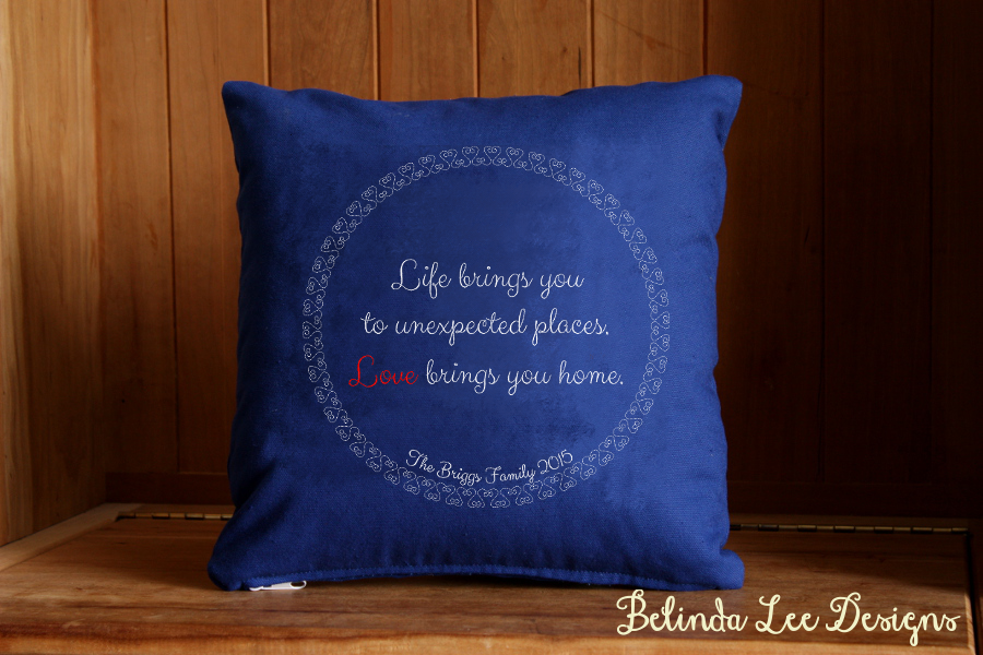 Personalized Housewarming Gift Life Brings You to Unexpected Places Love Brings You Home Pillow | 16 x 16 inch Insert + US Shipping Included | Belinda Lee Designs