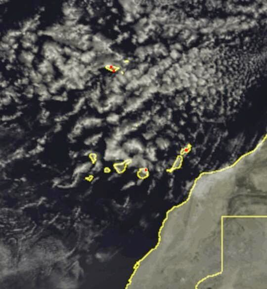 Llueve en Canarias 5 octubre