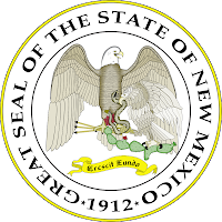New Mexico state seal - Crescit Eundo - It grows as it goes