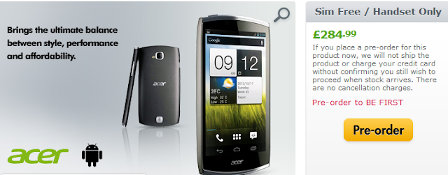 Acer CloudMobile Preorder
