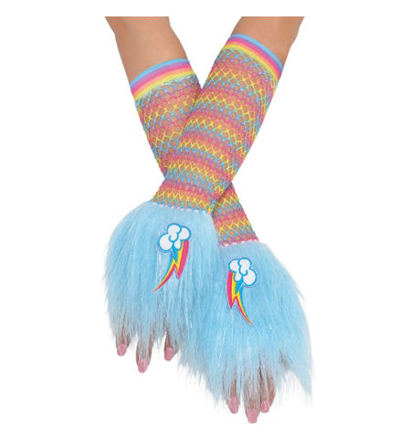 MLP Rainbow Dash Adult Costume Glovelettes