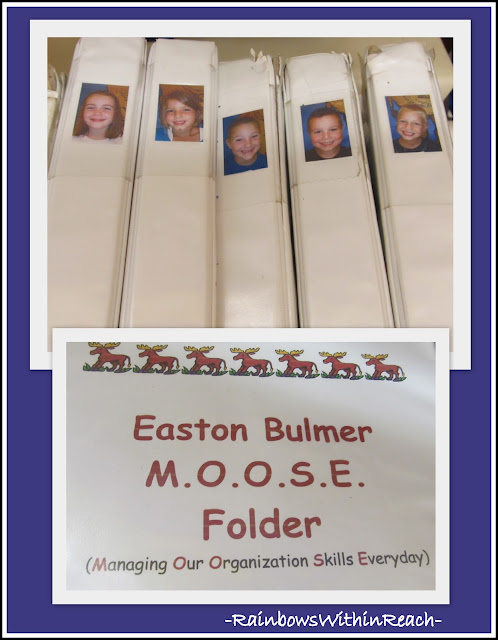 photo of: Individual Folders in Kindergarten (Organizational RoundUP via RainbowsWIthinReach) 