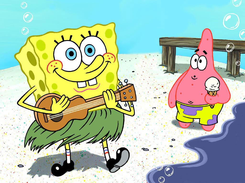 menyimak dan melihat lihat gambar spongebob diatas manak gambar ...