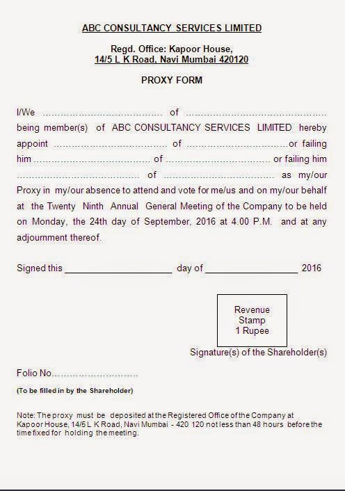 What S A Proxy Form