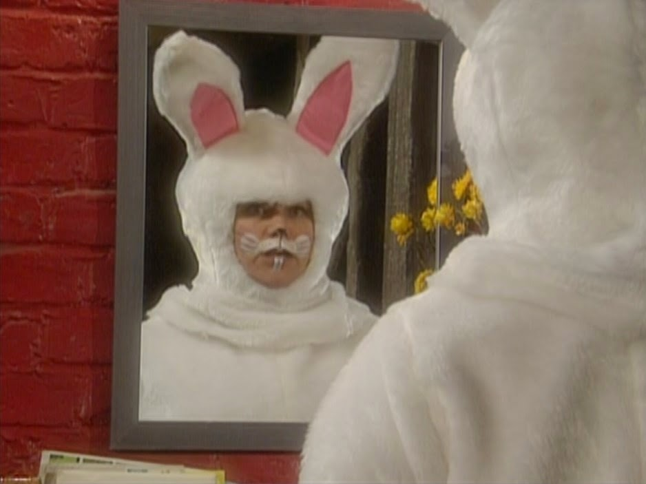 On The Evening Before Easter Vicar Dresses Up In A Bunny Costume And Sets Out To Deliver Chocolate Eggs Every House Village