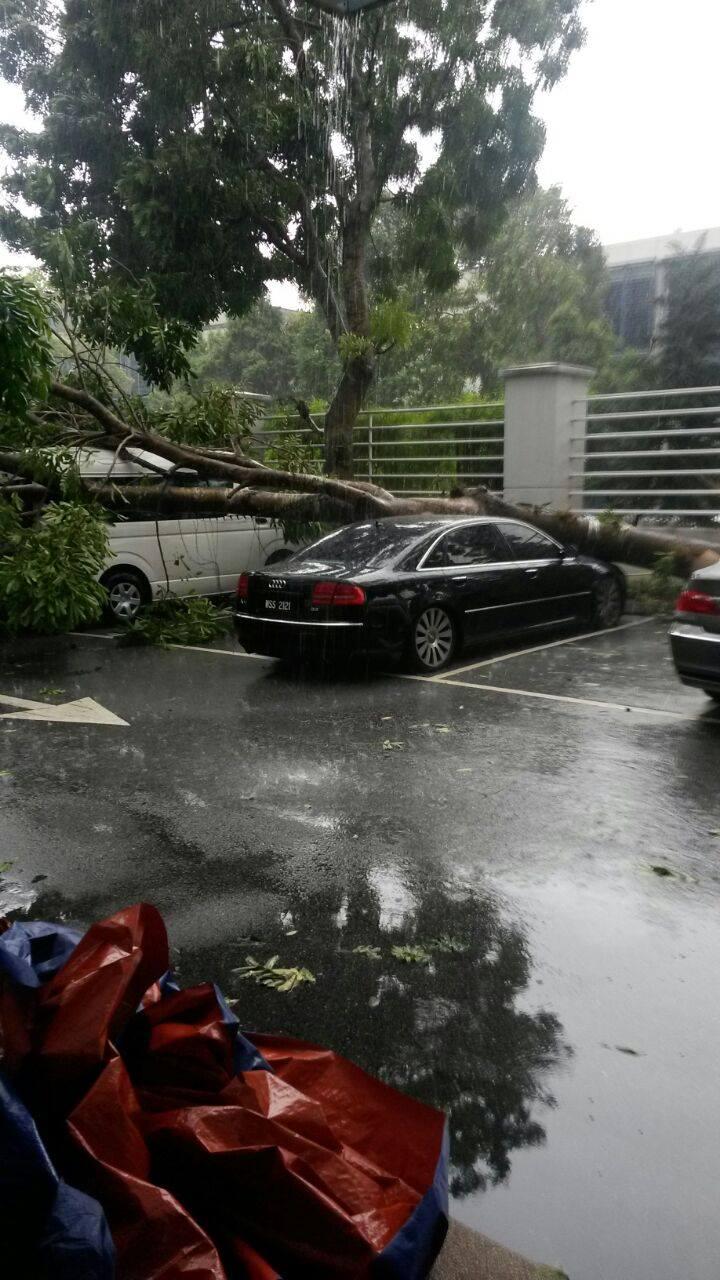 Foto Gambar Selepas Kejadian Ribut Taufan Di Bukit Jelutong Shah Alam