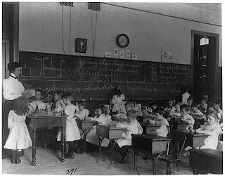 Old Classroom, black and white photo