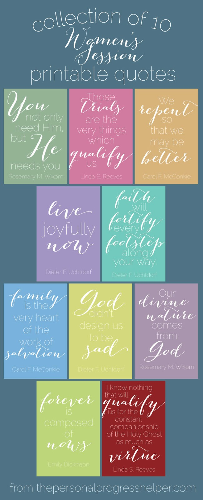 Collection of 10 Beautiful Women's Session Printable Quotes