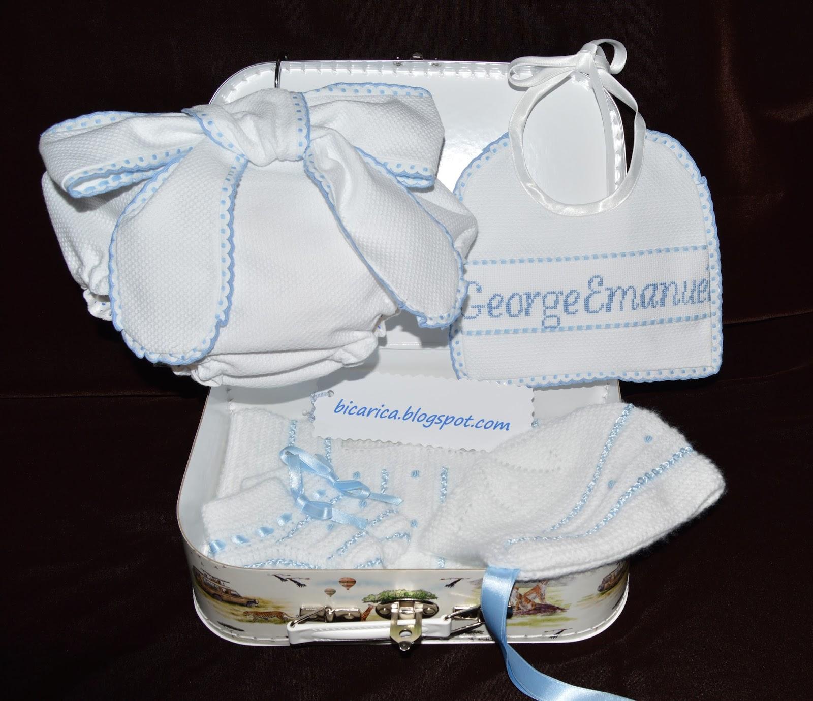 Canastilla artesanal personalizada para bebe bicarica - Canastilla artesanal bebe ...