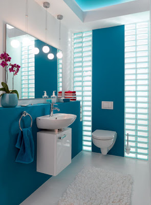 baño color turquesa