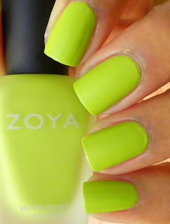 Zoya neon yellow polish