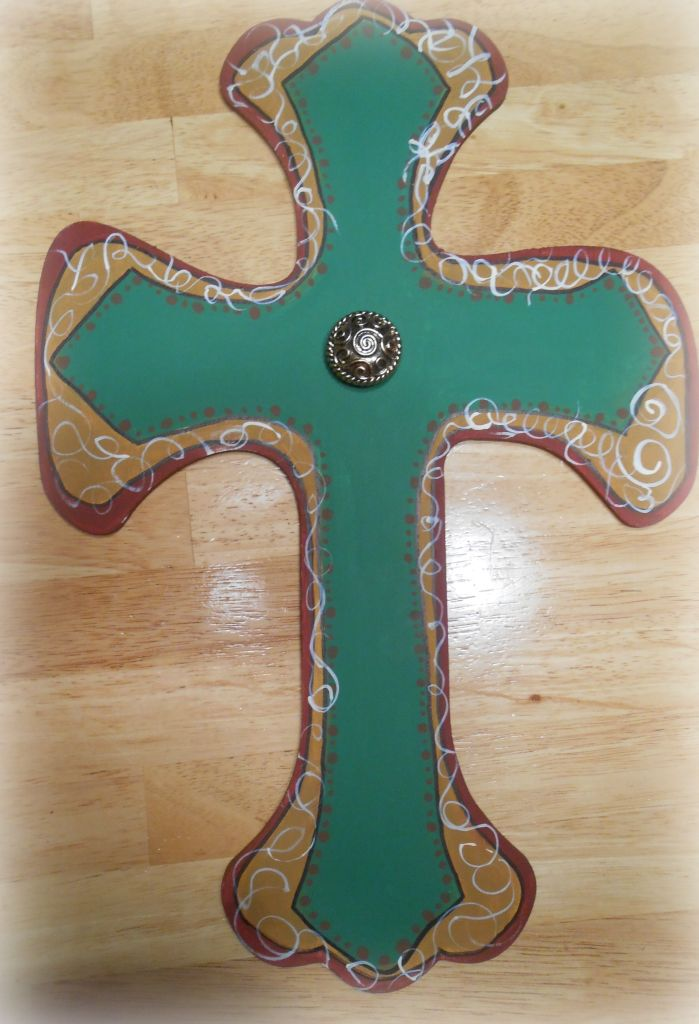 Cathy's Craft Corner: Painted wooden cross