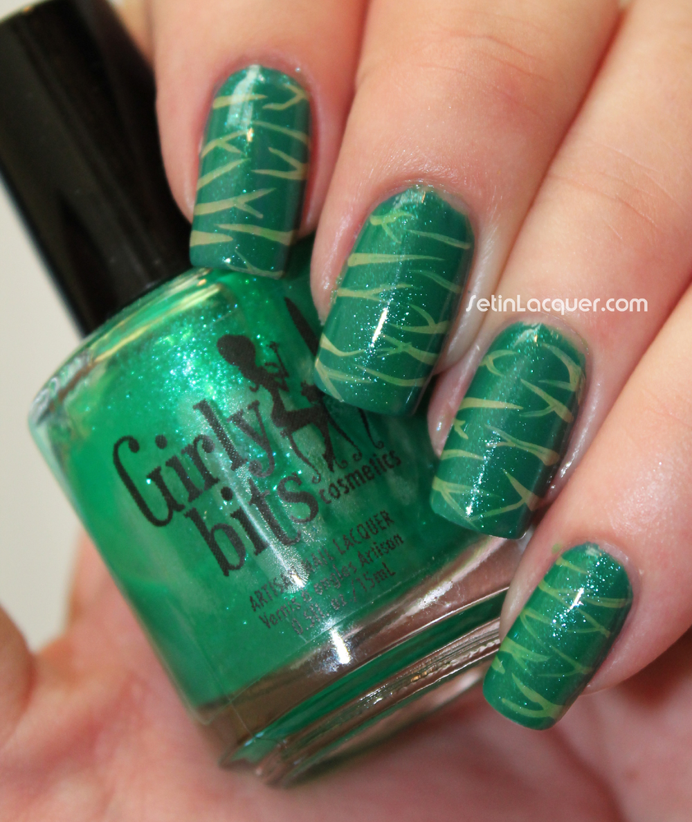 Animal striped nail art