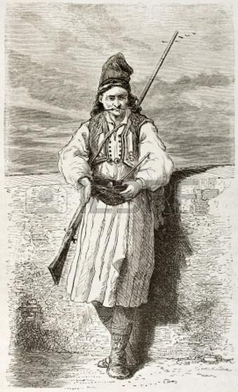 Albanés epistates soldado
