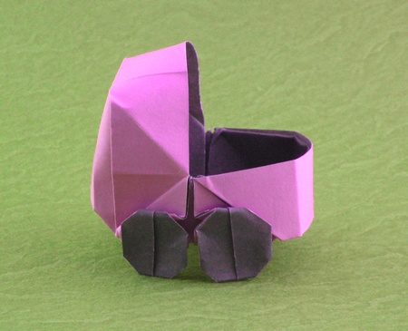 origami baby buggy yamanashi 3d easy art craft ideas