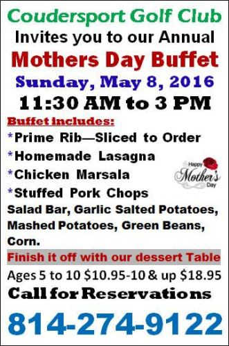 5-8 Mothers Day Buffet