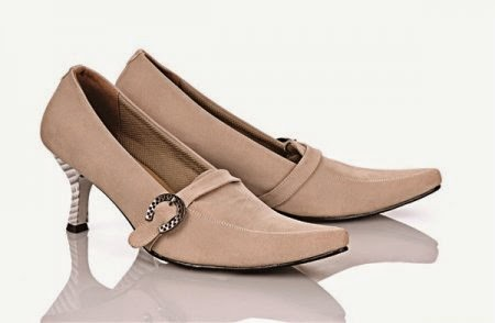 sepatu kerja wanita branded warna cokelat
