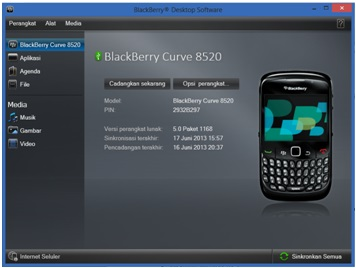 Menjadikan HP Blackberry Sebagai Modem