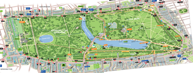 Map of Hyde Park and Kensington Gardens