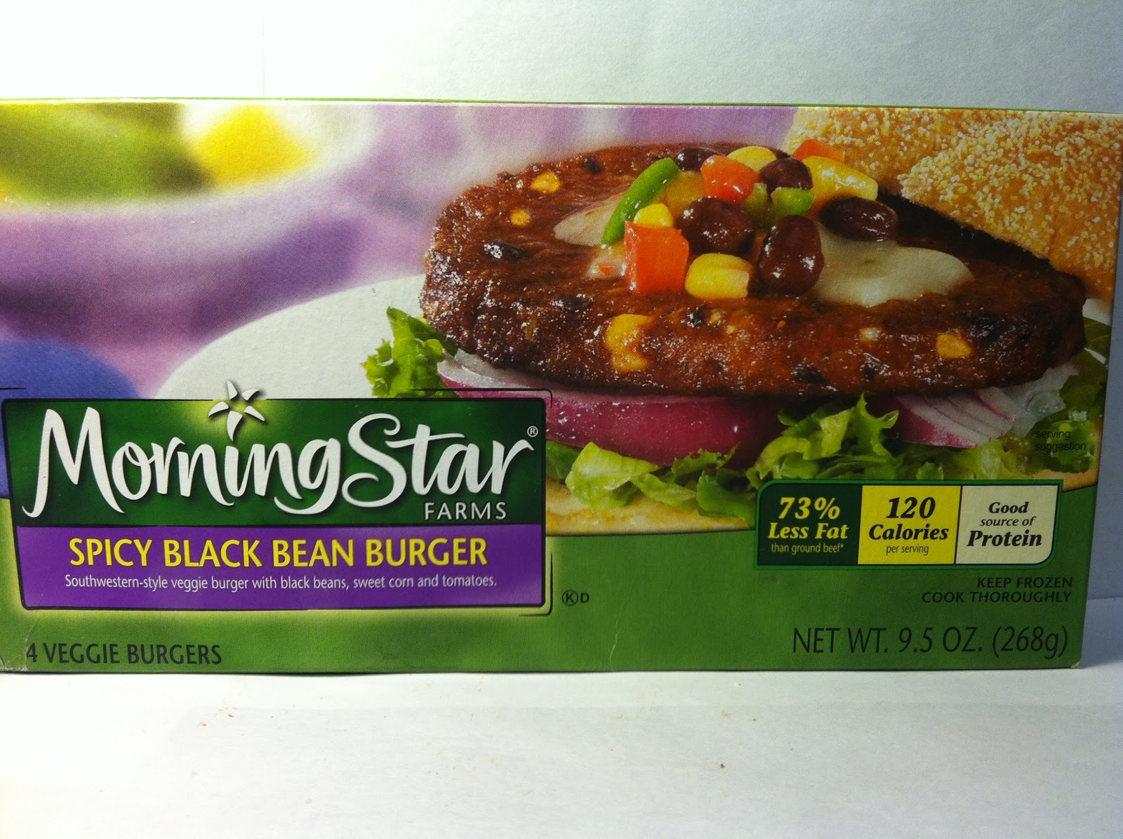 ... Food Dude: Review: MorningStar Farms Spicy Black Bean Veggie Burgers