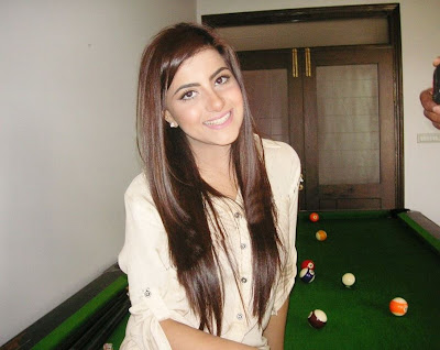 Beautiful Sohai Ali Abro At Home in Snooker Room Pictures 2013
