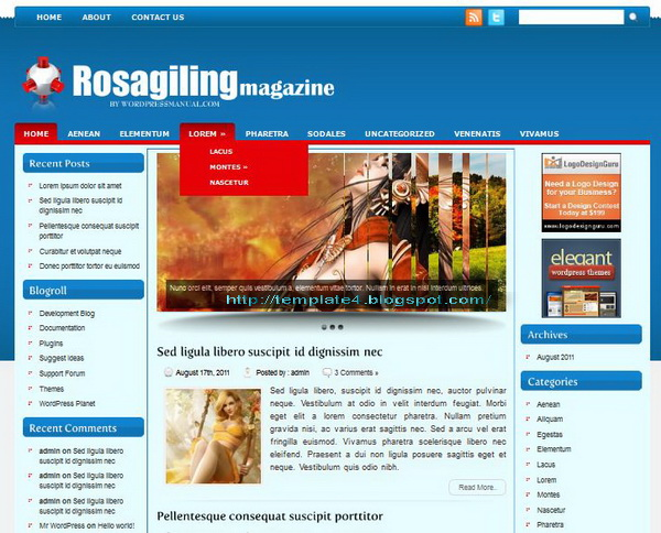 Rosagiling WordPress Theme