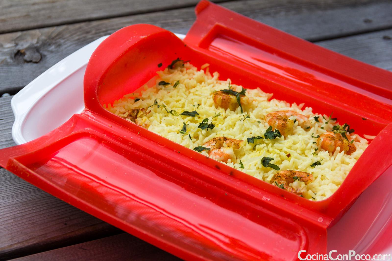 ¿Mola Lekue? Lekue-vaporera-receta-vapor-arroz-gambas-curry-CocinaConPoco.com-105
