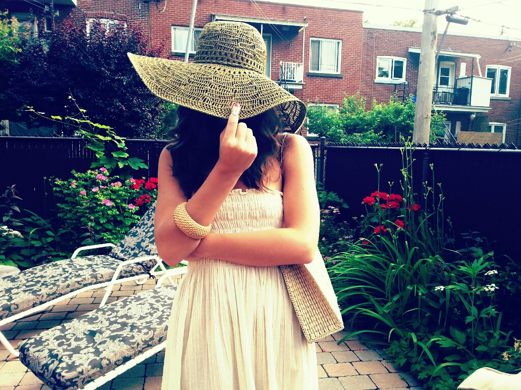white dress straw handbag hat