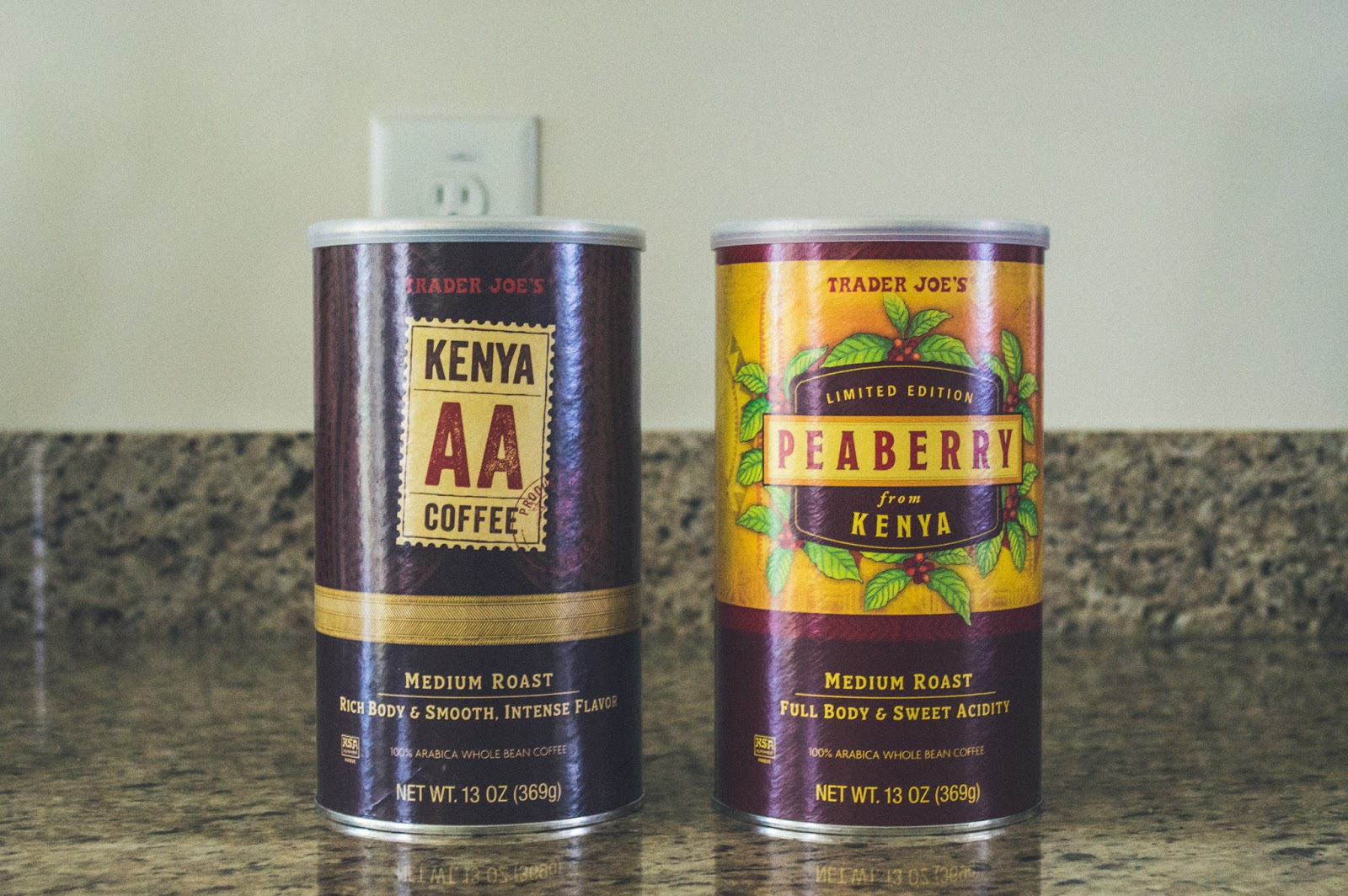 Trader Joe's Coffee: Kenya AA Medium Roast & Kenya Peaberry Medium Roast