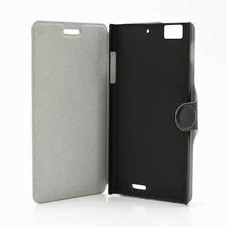 Ice Crystal Texture Leather Flip Case Cover Stand for Lenovo Lephone K900 - Black