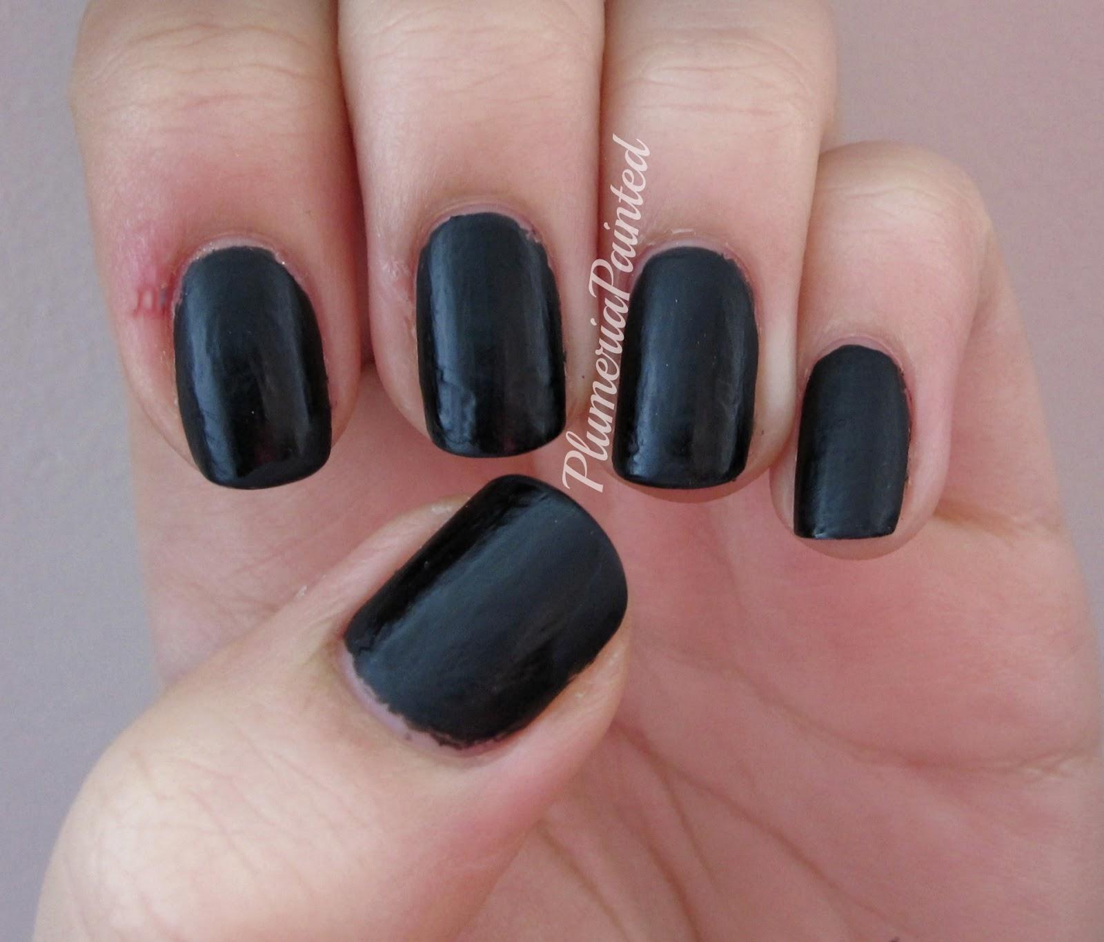 Finger Nail Paint: PlumeriaPainted: Black Nails: Ciaté