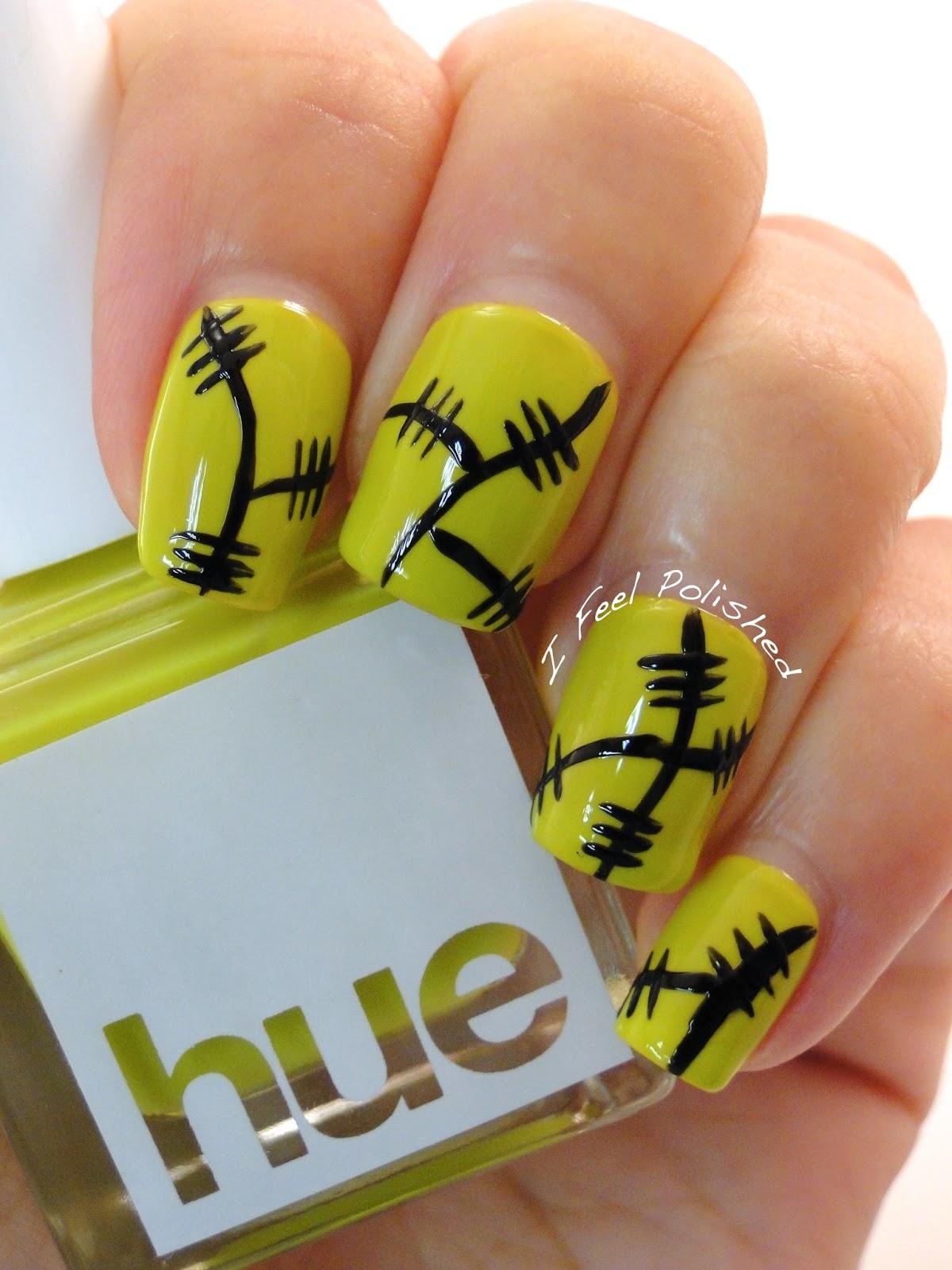 I Feel Polished Halloween Frankenstein Nails