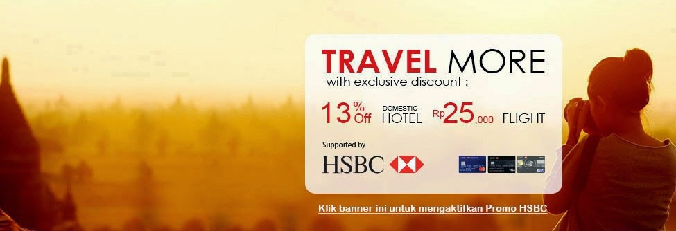 Hotel Diskon dan Mudah dari Bank HSBC kerjasama dengan PegiPegi.